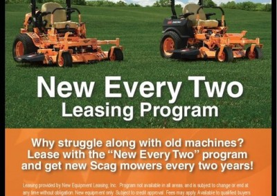 Scag zero turn mowers for lease